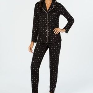 Alfani Super-Soft Pajama Set MEDIUM Navy Blue Star